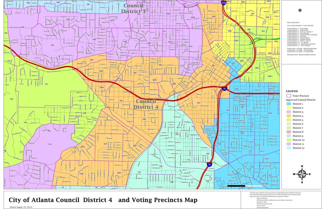 Map Of Georgia Voting Districts.District Maps Committee For A Better Atlanta